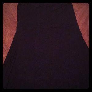 Black maxi tube dress/skirt. Womens XL.